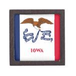 Bandera del estado de Iowa Cajas De Regalo De Calidad