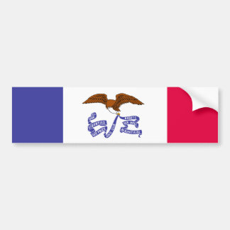 Bandera del estado de Iowa Pegatina De Parachoque