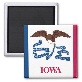 Bandera del estado de Iowa Imán Cuadrado