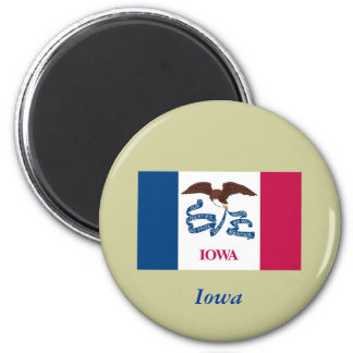 Bandera del estado de Iowa Imán Redondo 5 Cm