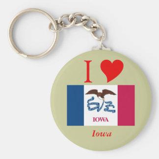 Bandera del estado de Iowa Llavero Redondo Tipo Pin