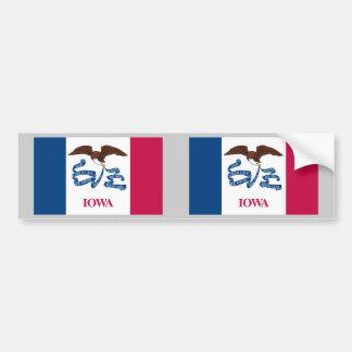 Bandera del estado de Iowa Pegatina Para Auto