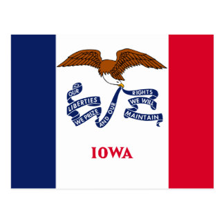 Bandera del estado de Iowa Postales