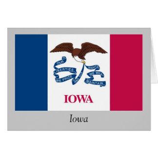 Bandera del estado de Iowa Tarjeta De Felicitación
