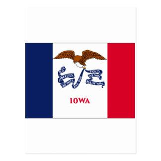 Bandera del estado de Iowa Tarjeta Postal