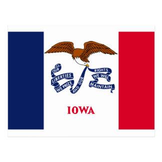 Bandera del estado de Iowa Tarjetas Postales
