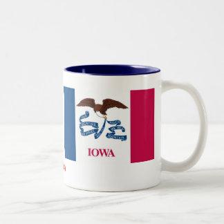 Bandera del estado de Iowa Taza De Dos Tonos