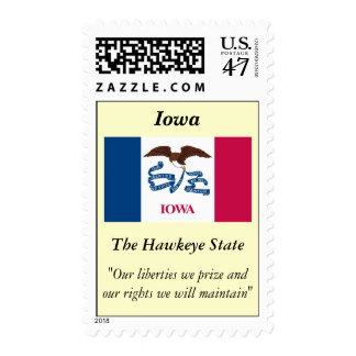 Bandera del estado de Iowa Timbre Postal