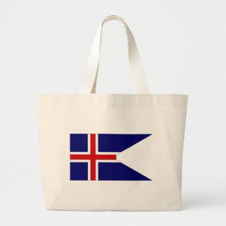 Bandera del estado de Islandia Bolsas Lienzo