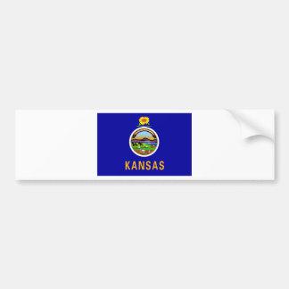 Bandera del estado de Kansas Etiqueta De Parachoque