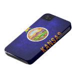 Bandera del estado de Kansas iPhone 4 Case-Mate Cárcasa