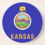 Bandera del estado de Kansas Posavasos Manualidades