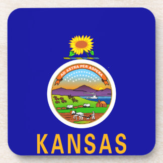 Bandera del estado de Kansas Posavasos