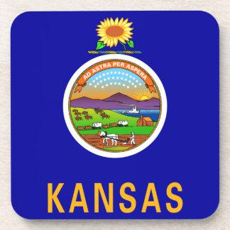 Bandera del estado de Kansas Posavasos De Bebidas