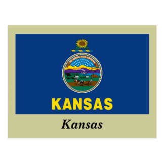 Bandera del estado de Kansas Postales