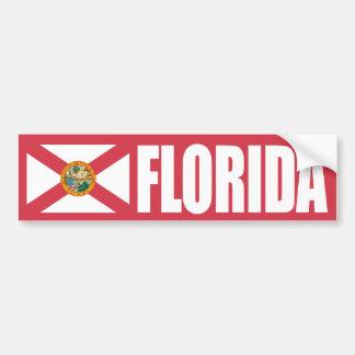 Bandera del estado de la Florida Pegatina De Parachoque