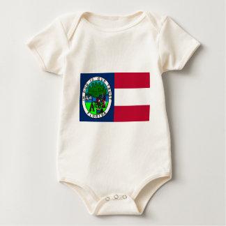 Bandera del estado de la Florida confederado 1861 Mameluco De Bebé