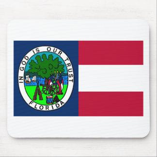 Bandera del estado de la Florida confederado 1861 Mousepad
