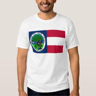 Bandera del estado de la Florida confederado 1861 Remeras