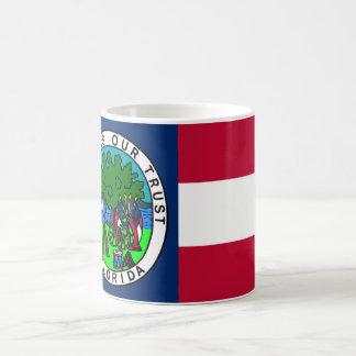 Bandera del estado de la Florida confederado 1861 Taza Clásica