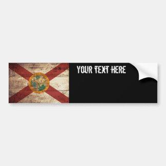 Bandera del estado de la Florida en grano de Pegatina Para Auto