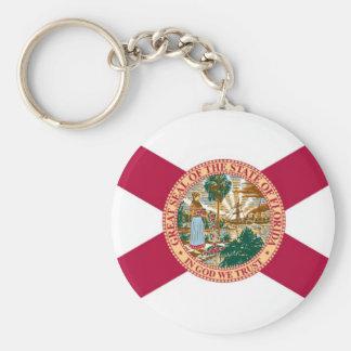 Bandera del estado de la Florida Llavero Redondo Tipo Pin