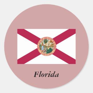 Bandera del estado de la Florida Pegatinas Redondas