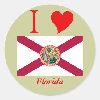 Bandera del estado de la Florida Etiquetas Redondas