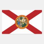 Bandera del estado de la Florida Rectangular Pegatina