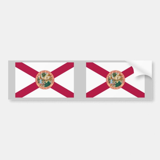 Bandera del estado de la Florida Pegatina Para Auto