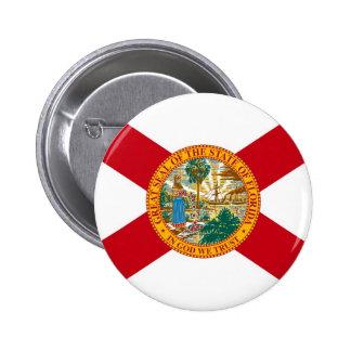 Bandera del estado de la Florida Pin Redondo 5 Cm