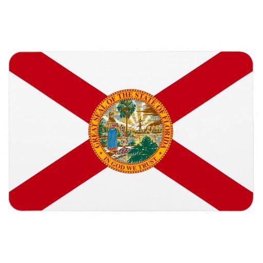 Bandera del estado de la Florida Rectangle Magnet