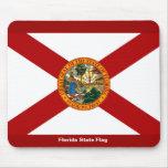 Bandera del estado de la Florida Alfombrillas De Ratón