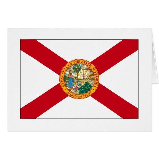 Bandera del estado de la Florida Tarjeta De Felicitación