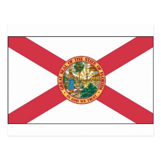 Bandera del estado de la Florida Tarjetas Postales