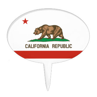 Bandera del estado de la república de California Figuras Para Tartas