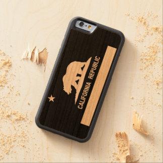 Bandera del estado de la república de California Funda De iPhone 6 Bumper Cerezo