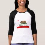 Bandera del estado de la república de California d T-shirts