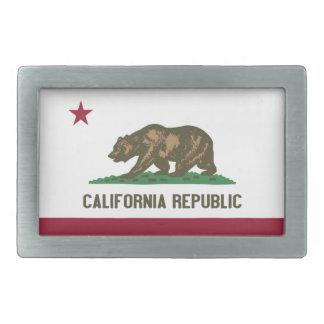 Bandera del estado de la república de California Hebillas Cinturon Rectangulares