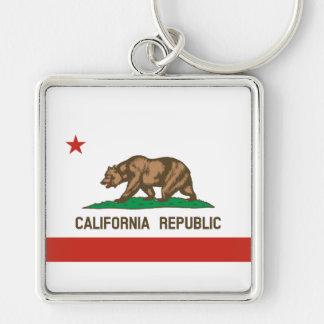 Bandera del estado de la república de California Llaveros Personalizados