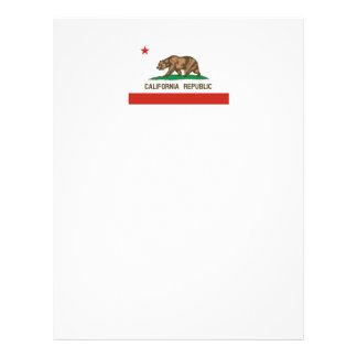 Bandera del estado de la república de California Membrete