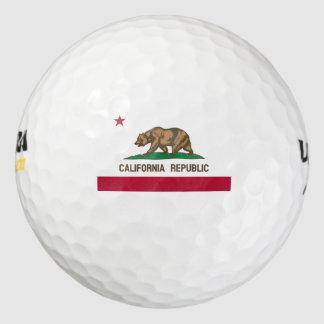Bandera del estado de la república de California Pack De Pelotas De Golf