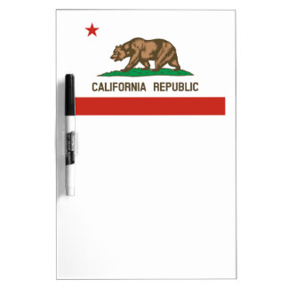 Bandera del estado de la república de California Pizarras Blancas