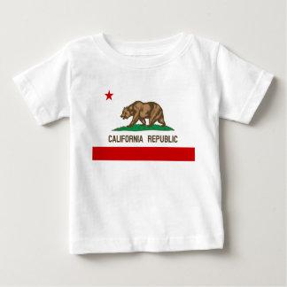 Bandera del estado de la república de California Playera Para Bebé