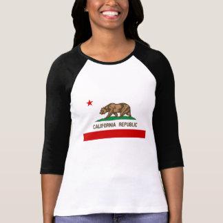 Bandera del estado de la república de California Remera