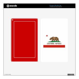 Bandera del estado de la república de California Pegatina Skin Para Kindle Fire