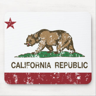 bandera del estado de la república de California Tapetes De Ratones