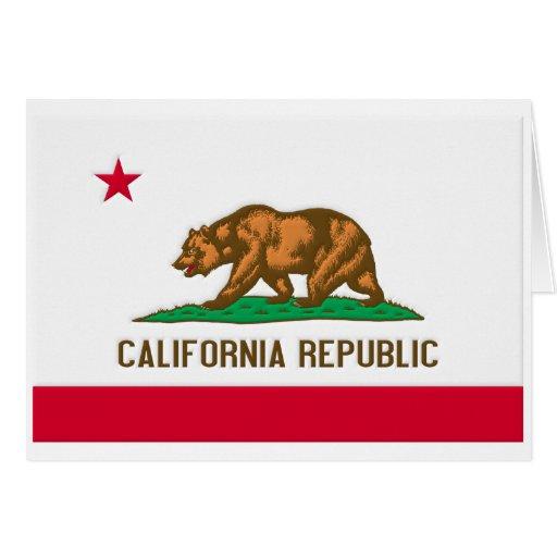 Bandera del estado de la república de California Tarjeta De Felicitación