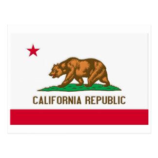 Bandera del estado de la república de California Tarjeta Postal