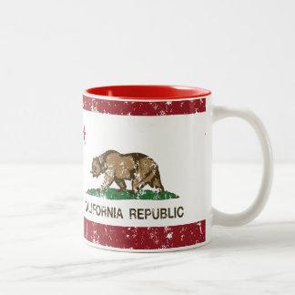 Bandera del estado de la república de California Taza De Dos Tonos